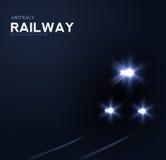 Lichten van trein, vector abstracte achtergrond stock illustratie