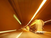 Lichten van verkeer in een tunnel Royalty-vrije Stock Afbeeldingen