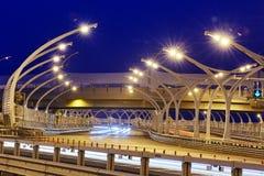Lichten van westelijke hoge snelheidsdiameter van St. Petersburg stock foto's