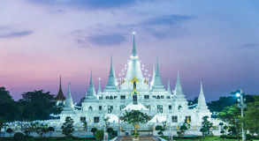 Lichtenpagode wat asokaram, Pagodetempel Thailand Royalty-vrije Stock Fotografie