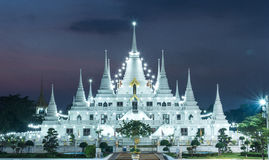 Lichtenpagode wat asokaram, Pagodetempel Thailand Royalty-vrije Stock Afbeelding