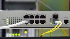 Lichtenstatus en verbindingen stock video