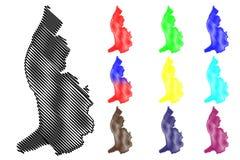 Lichtenstein översiktsvektor Royaltyfria Bilder