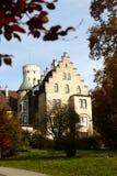 Lichtenstein Castle. Is a famous fairy tale style castle near Honau, Swabian Alb, Baden-Wuerttemberg, South-Germany. The name Lichtenstein means light (white Royalty Free Stock Image