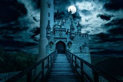 Free Lichtenstein Castle At Night, Germany Royalty Free Stock Image - 158576236