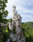 Lichtenstein castle in germany Royalty Free Stock Image