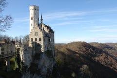 Lichtenstein slott Arkivfoto