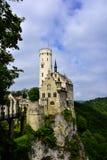 Lichtenstein slott Royaltyfri Bild