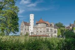 Lichtenstein slott i Baden-Wurttemberg, Tyskland Royaltyfri Foto