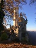 Lichtenstein slott i Tyskland Arkivfoton