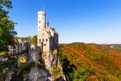 Lichtenstein slott nära Honau Fotografering för Bildbyråer