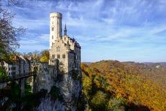 Lichtenstein slott, Tyskland Arkivbilder
