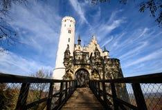 Lichtenstein slott, Tyskland Royaltyfri Fotografi