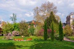 Lichtentaler Allee parkerar i Baden Baden i Tyskland Royaltyfria Foton