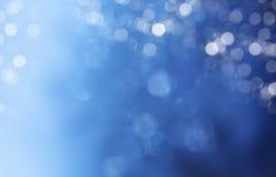 Lichter auf blauem Hintergrund. stockfotografie
