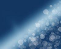 Lichter auf blauem Hintergrund. Stockfoto