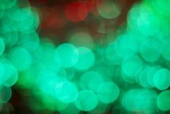 Lichter auf bokeh als Hintergrund Lizenzfreie Stockfotografie