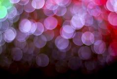 Lichter auf bokeh als Hintergrund Stockfotografie