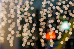 Lichter auf bokeh als Hintergrund Stockfoto