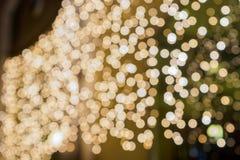 Lichter auf bokeh als Hintergrund Lizenzfreie Stockfotos