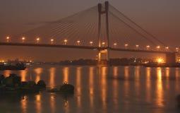 Lichter auf Brücke stockfotografie