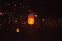 Lichter auf dem Himmel Stockfotografie