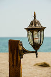 Lichter auf dem Strand Stockbilder