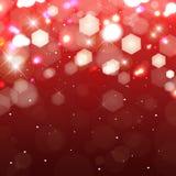 Lichter auf rotem Hintergrund. Schimmerndes farbiges Licht lizenzfreie abbildung