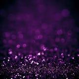 Lichter auf schönem Blinzeln der weißen purpurroten Hintergrundzusammenfassung beleuchten Lizenzfreies Stockbild