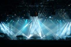 Lichter auf Stadium Stockfoto