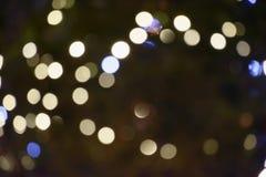 Lichter aus Fokusbild heraus Stockfotografie