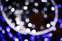 Lichter aus Fokusbild heraus Lizenzfreie Stockfotos