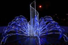 Lichter in den Neujahrsfeiertagen in der Nacht Lizenzfreie Stockfotos