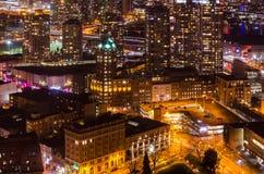 Lichter der Nacht Vancouver Stockfotografie