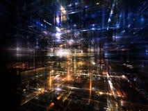Lichter der zukünftigen Stadt Stockbild