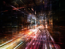 Lichter der zukünftigen Stadt Lizenzfreie Stockfotos