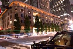 Lichter des rollenden Verkehrs in Tokyo, Japan Lizenzfreie Stockfotografie