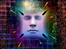 Lichter des Supermenschen AI Lizenzfreies Stockfoto
