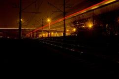 Lichter des Zugs. Lizenzfreie Stockfotografie