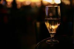 Lichter im Glas Stockfoto