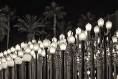 Lichter im LACMA-Museum Lizenzfreie Stockfotos
