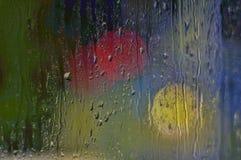 Lichter im Regen Lizenzfreie Stockfotografie