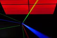 Lichter Laser, Lichter auf Stadium Lizenzfreie Stockfotos