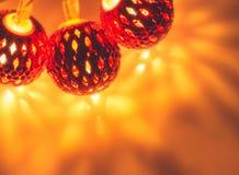 Lichter mit Reflexionsschatten Stockbild