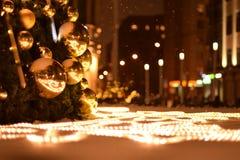 Lichter und Bälle lizenzfreies stockbild