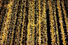 Lichter und Laternen in der Nacht Bokeh Stockbild