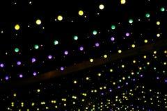 Lichter und Laternen in der Nacht Bokeh Lizenzfreie Stockbilder