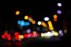 Lichter verwischten bokeh Hintergrund von der Weihnachtsnachtpartei für y Lizenzfreie Stockfotos
