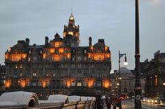 Lichter von Edinburgh stockfotografie