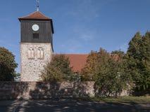 Lichterfelde-Dorfkirche. The village Lichterfelde is located near Eberswalde in Brandenburg, northeast of Berlin. - here: stone church from the 13th century Stock Images